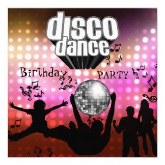 Fête d anniversaire de danse de disco d invitation