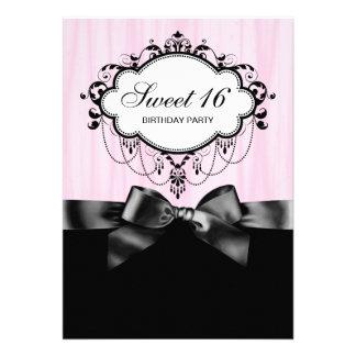 Fête d anniversaire noire rose du bonbon 16 bristol
