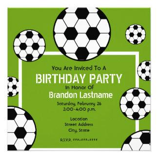 Fête d anniversaire - terrain de football et ballo bristols personnalisés