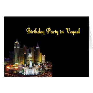 Fête d'anniversaire à Vegas ! Carte