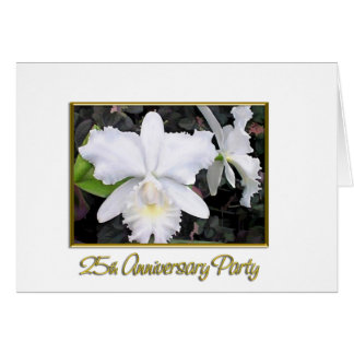 Fête d'anniversaire blanche croquante 25 carte de vœux