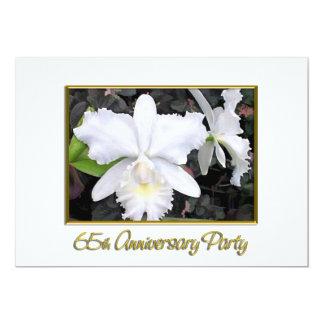 Fête d'anniversaire blanche croquante 65 carton d'invitation  12,7 cm x 17,78 cm