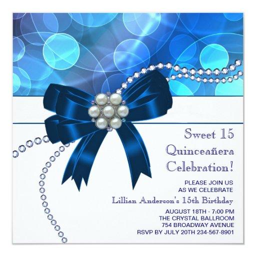 Fête d'anniversaire bleue turquoise de bleu royal faire-part personnalisables