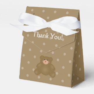 Fête d'anniversaire câline mignonne d'ours de boites faveurs de mariage