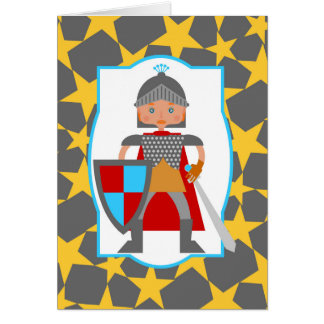 Fête d'anniversaire courageuse de garçon de carte de vœux
