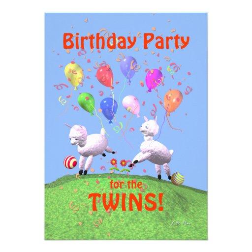 Fête d'anniversaire d'agneaux pour des jumeaux bristol