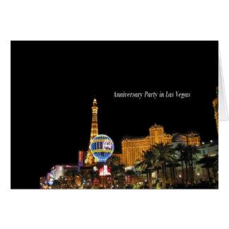 Fête d'anniversaire dans la carte de Las Vegas