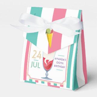 Fête d'anniversaire de crème glacée personnalisée boites de faveur