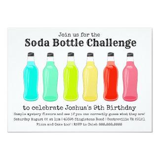Fête d'anniversaire de défi de bouteille de soude carton d'invitation  11,43 cm x 15,87 cm