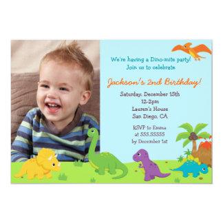 Fête d'anniversaire de dinosaure Invitaions Carton D'invitation