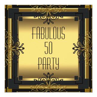 Fête d'anniversaire de Gatsby d'ART DÉCO 50 Carton D'invitation 13,33 Cm