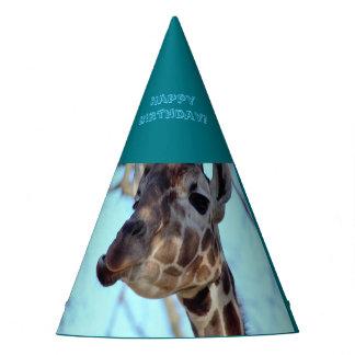 Fête d'anniversaire de girafe chapeaux de fètes