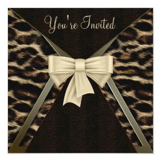 Fête d'anniversaire de la femme élégante de carton d'invitation  13,33 cm