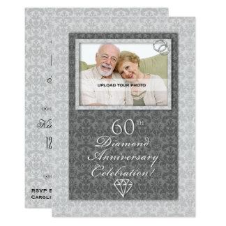 Noces diamant cartes invitations photocartes et faire part noces diamant - 17 ans de mariage noces de saphir ...