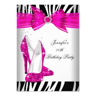 Fête d'anniversaire de noir de chaussure de talon carton d'invitation  11,43 cm x 15,87 cm