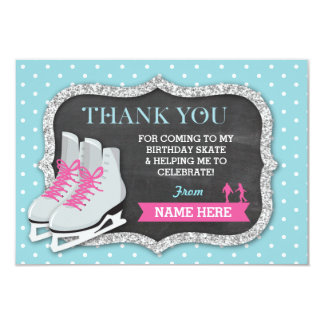 Fête d'anniversaire de patinage de glace de cartes