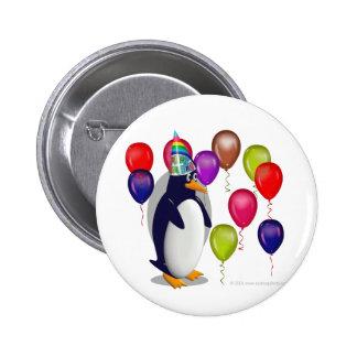 Fête d'anniversaire de pingouin badges