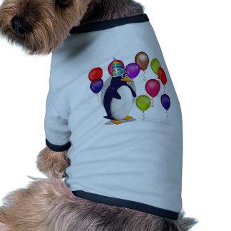 Fête d'anniversaire de pingouin manteau pour chien
