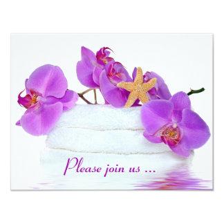 Fête d'anniversaire de spa carton d'invitation 10,79 cm x 13,97 cm
