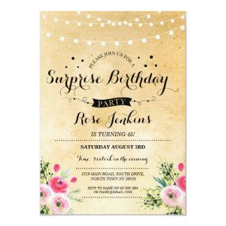 Fête d'anniversaire de surprise toute invitation