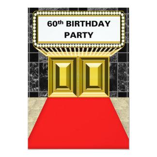 Fête d'anniversaire de tapis rouge de chapiteau de carton d'invitation  12,7 cm x 17,78 cm