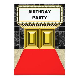 Fête d'anniversaire de tapis rouge de chapiteau de faire-part personnalisés