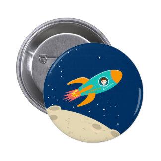 Fête d'anniversaire d'enfant d'astronaute pin's
