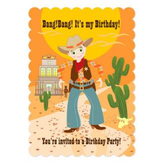 Fête d'anniversaire d'enfant de cowboy
