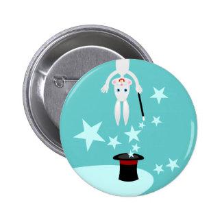 Fête d'anniversaire d'enfant de magicien badge rond 5 cm