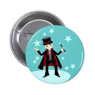 Fête d'anniversaire d'enfant de magicien badges