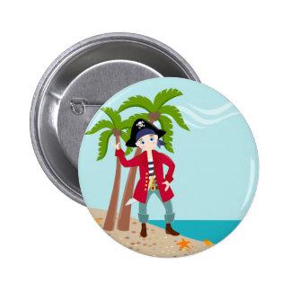 Fête d'anniversaire d'enfant de pirate badge rond 5 cm