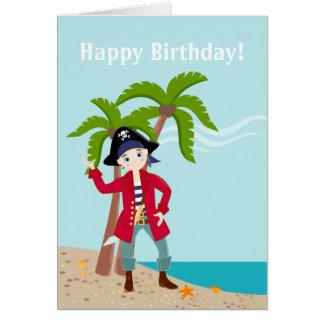 Fête d'anniversaire d'enfant de pirate carte de vœux