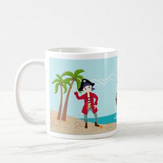 Fête d'anniversaire d'enfant de pirate mug blanc
