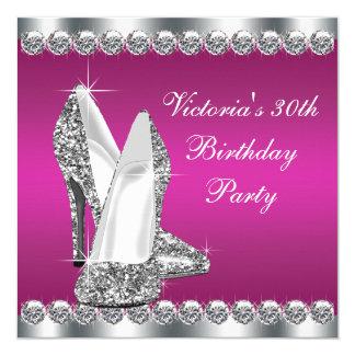 Fête d'anniversaire des roses indien de la femme carton d'invitation  13,33 cm