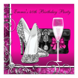 Fête d'anniversaire des roses indien de la femme cartons d'invitation