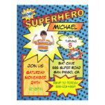 Fête d'anniversaire d'insertion de photo de super  cartons d'invitation