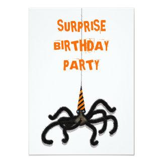 Fête d'anniversaire d'octobre carton d'invitation  12,7 cm x 17,78 cm