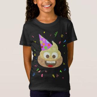 Fête d'anniversaire drôle d'Emoji d'enfants de T-Shirt