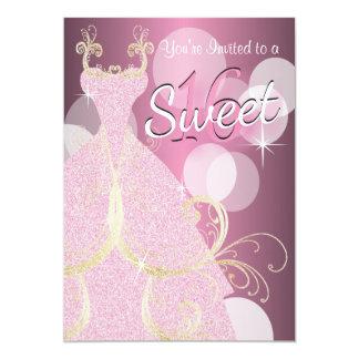 Fête d'anniversaire du bonbon 16 carton d'invitation  12,7 cm x 17,78 cm