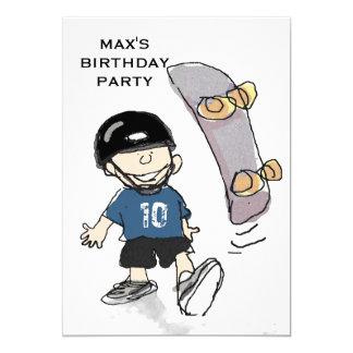 Fête d'anniversaire du garçon carton d'invitation  12,7 cm x 17,78 cm