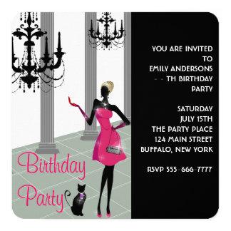 Fête d'anniversaire du nombre de la femme de invitation personnalisée