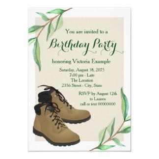Fête d'anniversaire du randonnée de la femme carton d'invitation  12,7 cm x 17,78 cm
