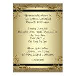 Fête d'anniversaire élégante de mariage d'or cinqu faire-parts