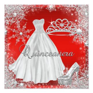 Fête d'anniversaire élégante élite rouge de carton d'invitation  13,33 cm