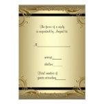 Fête d'anniversaire élégante RSVP de mariage d'or