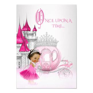 Fête d'anniversaire ethnique de princesse de carton d'invitation  12,7 cm x 17,78 cm