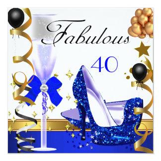 Fête d'anniversaire fabuleuse de l'or 40 bleus de bristol