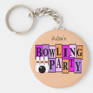 Fête d'anniversaire faite sur commande de bowling porte-clé rond