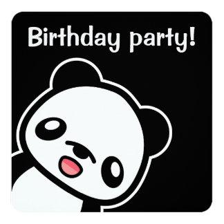 Fête d'anniversaire mignonne de panda carton d'invitation  13,33 cm