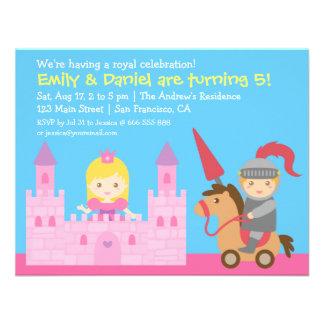 Fête d'anniversaire mignonne de princesse et de invitation personnalisable